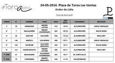 """""""MALAGUEÑO"""" TORO DEL REGRESO DE DAVID MORA A LAS VENTAS   Alcurrucén Corrida de toros David Mora Diego Urdiales Las Ventas Madrid Noticias Toros Perú Roca Rey San Isidro 2016"""