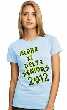 Alpha Xi Delta - seniors t-shirt