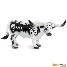 Cow Toys, Farm Toys, Black And White Coat, Beef Cattle, Texas Longhorns, Oklahoma Sooners, Alabama Crimson Tide, Farm Animals, Safari