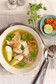 Classic Indonesian aromatic Chicken Soup (Soto Ayam) by Cooking Tackle - link doesn't work anymore