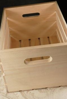 Save On Crafts 18 x 12.5 x 9 Wood Crate, $9.97