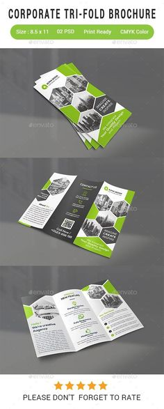 buy corporate tri fold brochure by alpha designs on graphicriver file information print size 300 dpi cmyk color clean design fully editable free font - Informational Brochure Templates Free