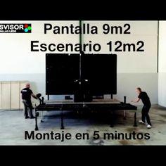 Remolque escenario de 12m2 y pantalla Led Pitch 6mm exterior, mas info en…