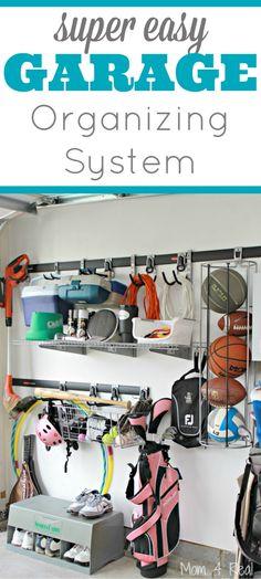 Super Easy Garage Organization Ideas – Mom 4 Real Super Easy Garage Organizatio… Super Easy G Garage Renovation, Garage Remodel, Garage Makeover, Garage Tools, Diy Garage, Garage Storage, Garage Ideas, Garage Art, Garage Shop