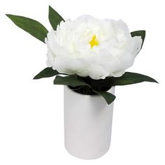 Artificial Peony Arrangement Small - White - Threshold™ : Target