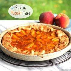 Rustic Peach Tart is easy, beautiful and delicious. Fresh peaches, store-bought crust (or not) and a few simple ingredients come together to make a great dessert.
