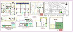 Plan Autocad dune petite villa dwg | Génie civil et Travaux Publics Engineering