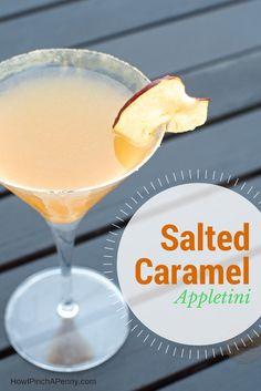 Salted Caramel Appletini from savoringthegood.com Perfect for fall!