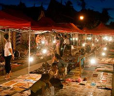 Luang Prabang Night Market, Laos More than 300 handicraft vendors sell artisan wares, textiles, teas, and paintings that hew to local traditions. This roughly half-mile-long nightly event is one of the country's best spots to find one-of-a-kind items at bargain prices. While food is available on-site, duck into the nearby alley between Sisavangvong Road and Mekong River for the best dishes.