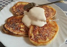 Szirnyiki - mennyei orosz túrópalacsinta recept foto Waffles, Pancakes, Deserts, Food And Drink, Meals, Cooking, Breakfast, Sweet, Recipes