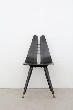 mid century chair / black desk chair by 86home on Etsy, $385.00