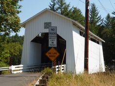 The bridge is located near Veneta in Lane County.