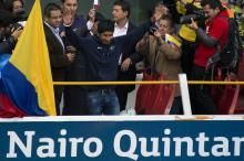 Quintana given a hero's welcome in Colombia