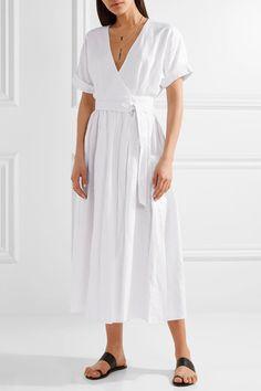 Mara Hoffman   Organic linen wrap midi dress   NET-A-PORTER.COM