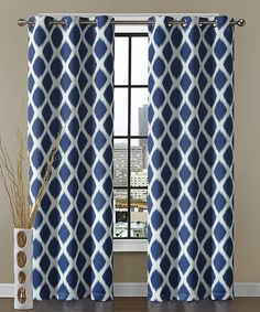 Look what I found on #zulily! Navy Tribeca Blackout Curtain Panel - Set of Two #zulilyfinds
