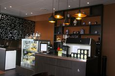 Ginger Cafe, Richmond Mall, Nelson, NZ using the Meridan Pendants by Geneva « Lighthouse Nelson www.nelsonlighting.co.nz Ginger Cafe, Lighthouse Lighting, Liquor Cabinet, Geneva, Storage, Mall, Projects, Pendants, Inspiration