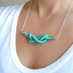 ZEE rope necklace // black by GOLDhearted on Etsy