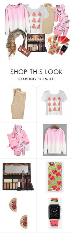 """""""Pink. Sorry I may not be posting for a while caused by internet problems"""" by colliner13 ❤ liked on Polyvore featuring AG Adriano Goldschmied, Ally Fashion, Kat Von D, Casetify and Betsey Johnson"""
