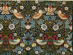 William Morris (1834-1896), 'The Strawberry Thief (Flower and Bird Pattern)', 1884