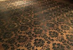 Beautiful painted floor by Chicago Artist Paul Minnihan.