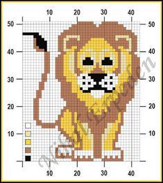 Lion intarsia pattern