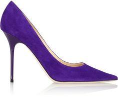 Purple suede pumps #JimmyChoo