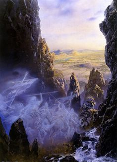The King of the Oathbreakers by Ted Nasmith (book: the complete guide to middle-earth)
