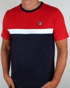Fila Vintage Lattea T-shirt Navy/Red