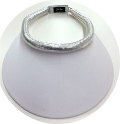 Midsize White Brim (small flaw on brim) w/ Metallic Silver Band & Velcro Closure October Sun, Visors, Amazing Women, Flaws, Metallic, Closure, Band, Silver, Stuff To Buy