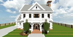 Georgian Home – Minecraft House Design
