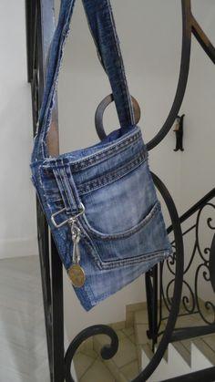 Pochette jean homme en jean recyclé : Autres mode homme par annbcreation