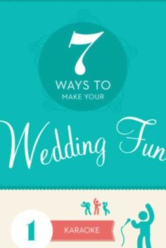 Wedding Entertainment Ideas: Unique Wedding music, dance, food, ideas for kids and much more! #fun #wedding #ideas