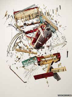 Disassembled accordion  Things Come Apart by Todd McLellan is published by Thames and Hudson.