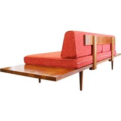 "Mid Century Modern Daybed with floating side tables Horizon Daybed"") ($1,100) ❤ liked on Polyvore featuring home, furniture, mid century modern daybed, mid century day bed, handcrafted furniture, midcentury furniture and mid century modern day bed"