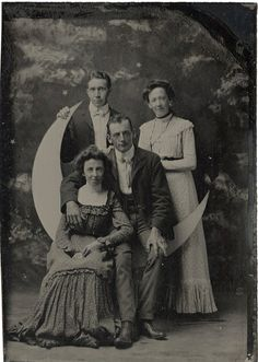 Two Couples on a Paper Moon - Tintype by Photo_History, via Flickr