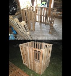 pallet children house in progress1 600x641 Kids house in pallet garden pallets…