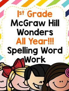 This is a great resource to McGraw Hill Wonders that can be used in centers or independently. It allows for spelling word repetition through the writing with pencil, marker, and rainbow write. Included are: Start Smart Weeks Unit (Weeks 1st Grade Spelling, 1st Grade Writing, First Grade Reading, Spelling Words, Wonders Reading Programs, Wonders Reading Series, Reading Groups, Kids Reading, Guided Reading