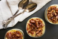 Sweet Corn Panna Cotta with Candied Bacon by @hapagirl3 | Find this Recipe on SideChef | SideChef.com