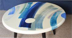 blue coffee table by belatrova