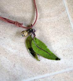 Torch Fired Enamel Gum leaves