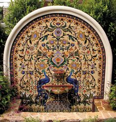 Matt Elkins uploaded this image to 'FOUNTAINS'. See the album on Photobucket. Backyard Water Feature, Ponds Backyard, Outdoor Wall Fountains, Patio Fountain, Mexican Courtyard, Backyard Paradise, Water Features In The Garden, Outdoor Landscaping, Outdoor Settings