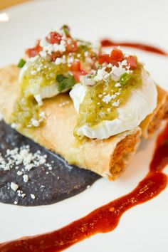 For a taste of Texas, The Ritz-Carlton, Dallas tops crispy chicken flautas with poached eggs, salsa verde and a sprinkling of queso fresco.