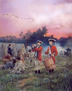 "american revolution pictures | Reveillie"" by Pamela Patrick White. Another day begins for a regiment ..."