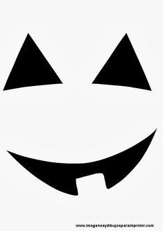 Cara de calabaza sonriendo