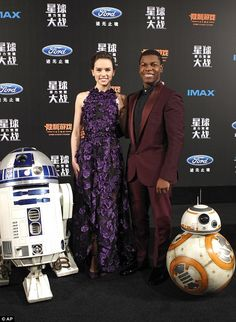 Newcomers: Daisy Ridley and John Boyega have been enjoying every minute of the promotional tour so far