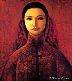 """Spring"" Oil on linen 1997.  © Shijun Munns 黄诗筠  www.shijunart.com www.facebook.com/shijunart  #painting #Art #OilPaintings #Portrait #artist #shijunart #shijunmunns #artlanta #atlantaartist #Spring"