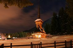 Poiana-Brasov Wooden Church ♦ Romania Plan Your Trip, Skiing, Architecture, Building, Places, Fun, Travel, Design, Winter