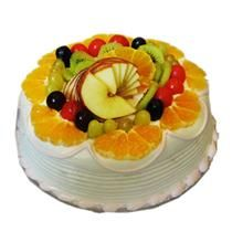send cake to celebrate , delhi, mumbai india send online cake and flowers:FRUITY CAKE
