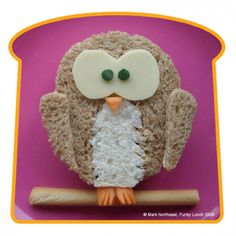 owl sandwich; kids lunch I will do this when I find a husband and have a little of my own!