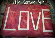 52 Weeks of Pinterest: Week 14 – Kid's Canvas Art! | DiscountQueens.com